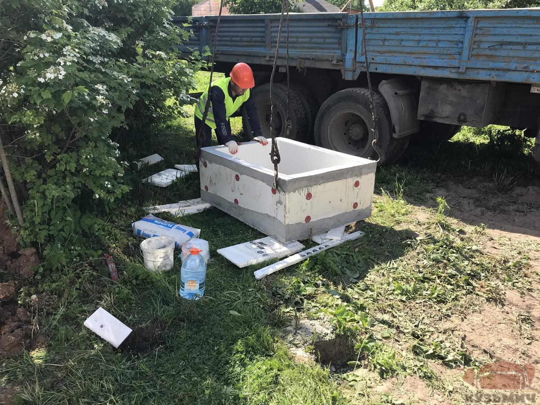 Монтаж горловины погреба Кузьмич