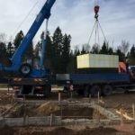 Монтаж железобетонного погреба Кузьмич 12 м3