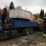 Монтаж монолитного погреба Кузьмич 10 м3